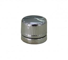 Botão Francês Canelado Cromado (ABS - plástico)